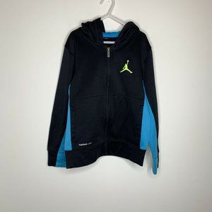 Nike Jordan Youth Boys S Black/Blue Zip Up Hooded